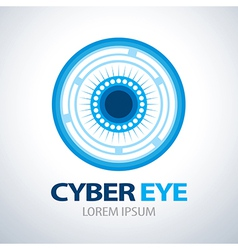 Cyber eye symbol icon vector image