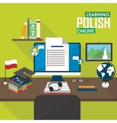 E-learning polish language vector