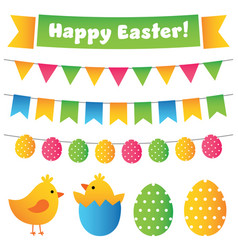 easter design elements set vector image vector image