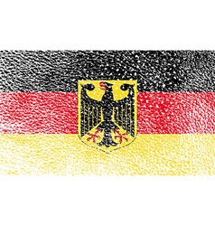 Flag Arms of Germany with old texture vector image