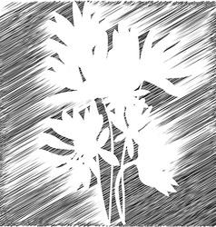 Flowers stencil backgroud vector