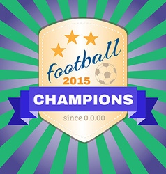 Football 2015 champions vector