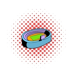 Football soccer stadium icon comics style vector image vector image