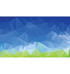 green blue abstract low poly background vector image