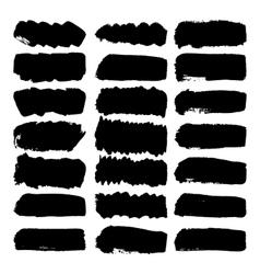 Grunge brush strokes vector image vector image