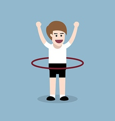 hula hoop exercise vector image