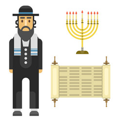 judaism church traditional symbols isolated vector image vector image