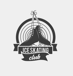 Logo with a pair of tied ice skates vector