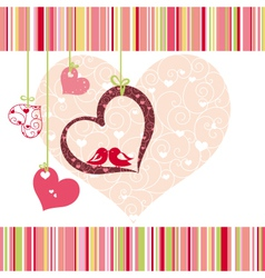 lovebirds colorful vector image vector image
