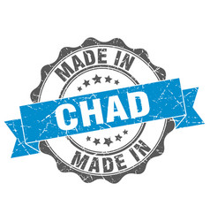 Made in chad round seal vector