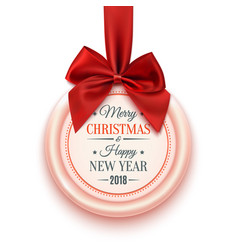 Merry christmas and happy new year 2018 decoration vector