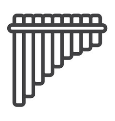 Mexican pan flute line icon music vector