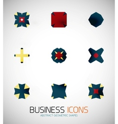 Modern abstract geometric business icons icon set vector
