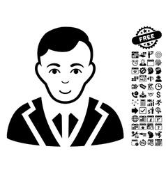 Noble flat icon with bonus vector