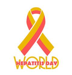 poster world hepatitis day vector image