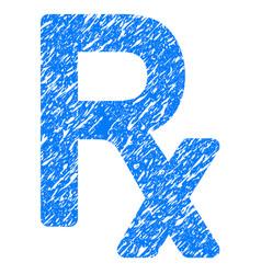 Prescription symbol grunge icon vector