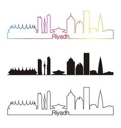 Riyadh skyline linear style with rainbow vector