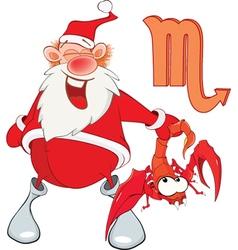 Santa Claus Astrological Sign in Zodiac Scorpion vector image