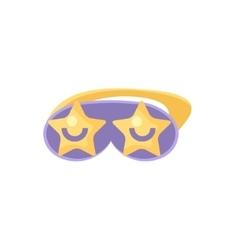 Sleeping mask with stars vector