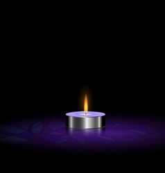 small candle purple vector image vector image