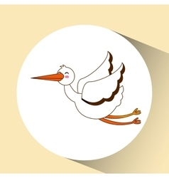 stork bird icon design graphic vector image