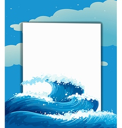 The wave and an empty sheet vector image vector image