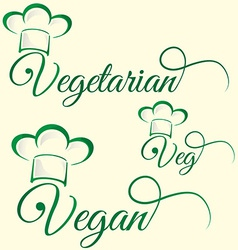 Vegetarian and veg symbol vector
