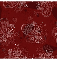 vinous floral pattern vector image