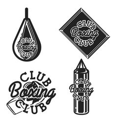 vintage boxing club emblems vector image vector image