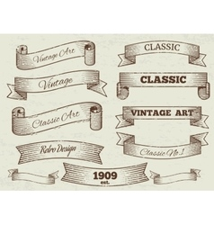 vintage labels and banners collection vector image