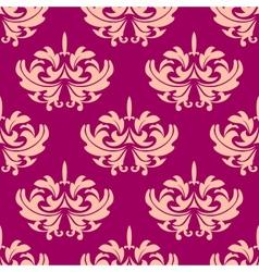 Vintage purple arabesque seamless pattern vector