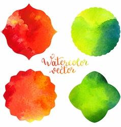 Watercolor frames templates vector image vector image