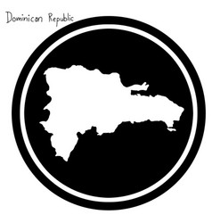 white map of dominican republic on vector image