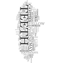 Yellow teeth need for a makeover text word cloud vector