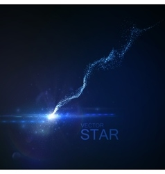 Star with glowing trail vector