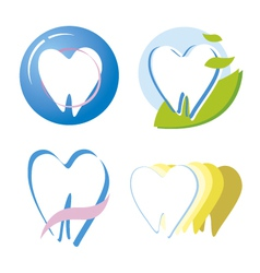 Tooth design vector