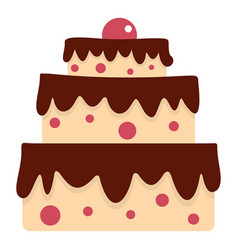 cake icon isolated vector image