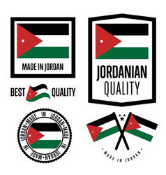 Jordan quality label set for goods vector