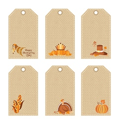 Thanksgiving day price tags vector