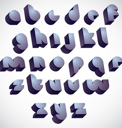 3d futuristic round font monochrome dimensional vector image vector image