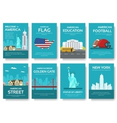 Country usa travel vacation guide of goods places vector