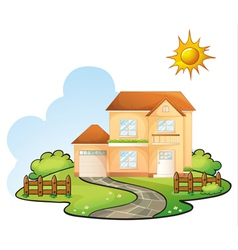 a house vector image
