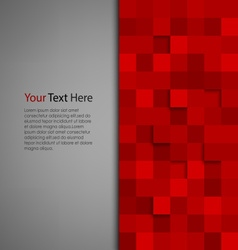 Abstract background with red square vector image vector image
