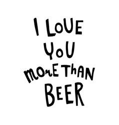 Beer lettring vector