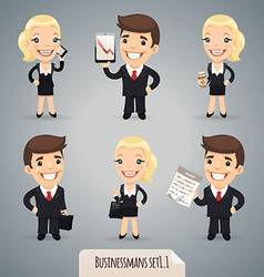 Businessmen set1 1 vector image vector image