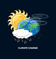 Climate change design vector