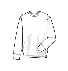 Colorable sweatshirt front vector