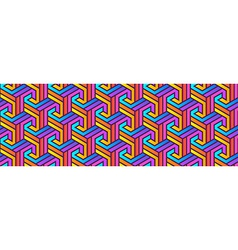 Colored Geometric Pattern vector image vector image