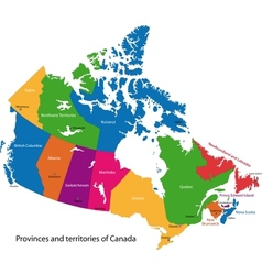 Colorful Canada map vector image