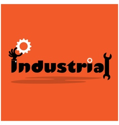 Creative gear cog ideaflat design vector
